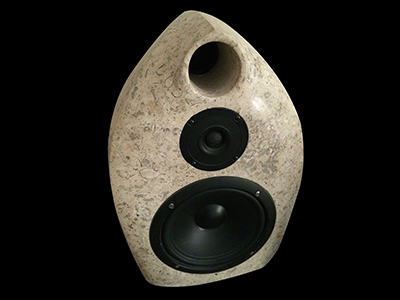 Two Way Upright Limestone Speakers