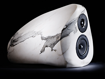 White marble speakers